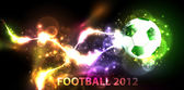 Neon banner football — Stock Vector