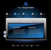 Web site design modern template — Stock Vector