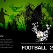 Royalty-Free Stock Vector Image: Soccer grunge city poster