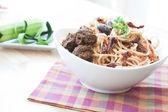 Vegan Zucchini Noodles — Stock Photo