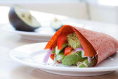Vegan Raw Food Wrap — Stock Photo