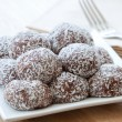 Coconut crusted chocolate balls — Stock Photo