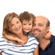 Stock Photo: Family embraced