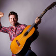 Musician with classic guitar — Stock Photo