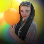 Girl with ball — Stock Photo #11342376