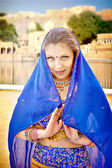 Portrait of indian woman — Stock Photo