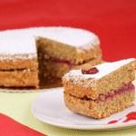 Piece of buckwheat cake — Stock Photo