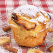 Apple muffin with icing sugar — Stok fotoğraf