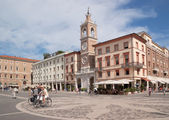 Three Martyrs square in Rimini — Stock Photo