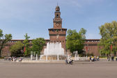 Main entrance of Castello Sforzesco in Milan — Stock Photo