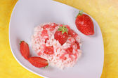 Risotto with strawberries — Stock Photo