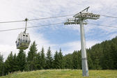Cable car on a cableway in the Alps — Stock Photo