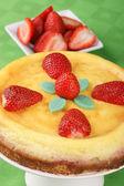 Strawberry cheese cake — Stock Photo