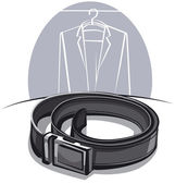 Men's leather belt — Vetorial Stock