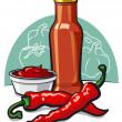 Chilly ketchup — Stock Vector
