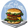 Hamburger — Stock Vector #11780327