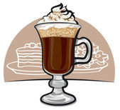 Irish coffee — Stock Vector