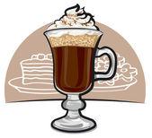 Irish coffee — Stock Vector