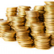 Piles of coins — Stock Photo