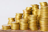Stacks coins — Stock Photo
