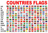Countries flags — Stockfoto