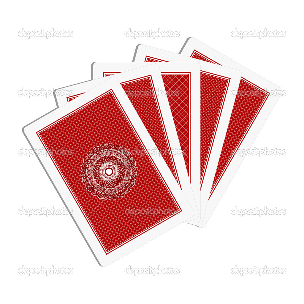Illustration of back side of playing cards  Stock Vector #11266151