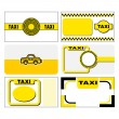 Stock Vector: Taxi business cards