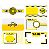 Taxi business cards — Stockvektor