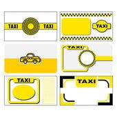 タクシー ビジネス カード — ストックベクタ