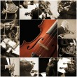 Classical music collage — Stock fotografie