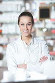 Beautiful pharmacist — Stock Photo