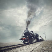 Black train — Foto de Stock