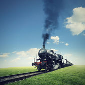 Travel by steam train — Stock Photo