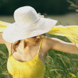 Young woman in spring — Stock Photo
