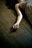 Dead woman — Stock Photo