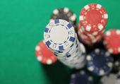 ポーカー チップ スタック — ストック写真