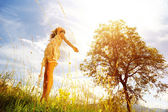 Güneşli gün ve yaşam sevinci — Stok fotoğraf