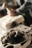 Scolpito in legno — Foto Stock