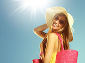 Summer vacation woman — Stock Photo