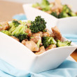 Chicken and broccoli stir fry — Stock Photo
