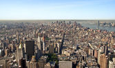 Panoramic view Midtown and downtown of manhattan — Stock Photo