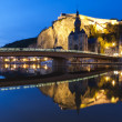 Cityscape of Dinant at river Meuse, Belgium — Stock Photo #10750882