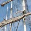 Rigging of big sailing vessel — Stock Photo #10750943