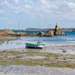 Stock Photo: Coast of Brittany during ebb tide