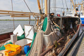 Dutch fishing ships in harbor of Urk — Stock Photo