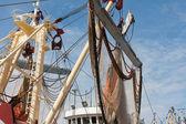 荷兰捕捞刀晾的网 — 图库照片