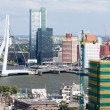 Stock Photo: Aerial view of Rotterdam, the Netherlands