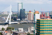 Aerial view of Rotterdam, the Netherlands — Stock Photo