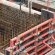 Stock Photo: Steel bars ready for reinforced concrete foundation