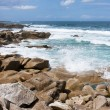 Waves breaking at rocky coast of Brittany, France — Stock Photo #11614230